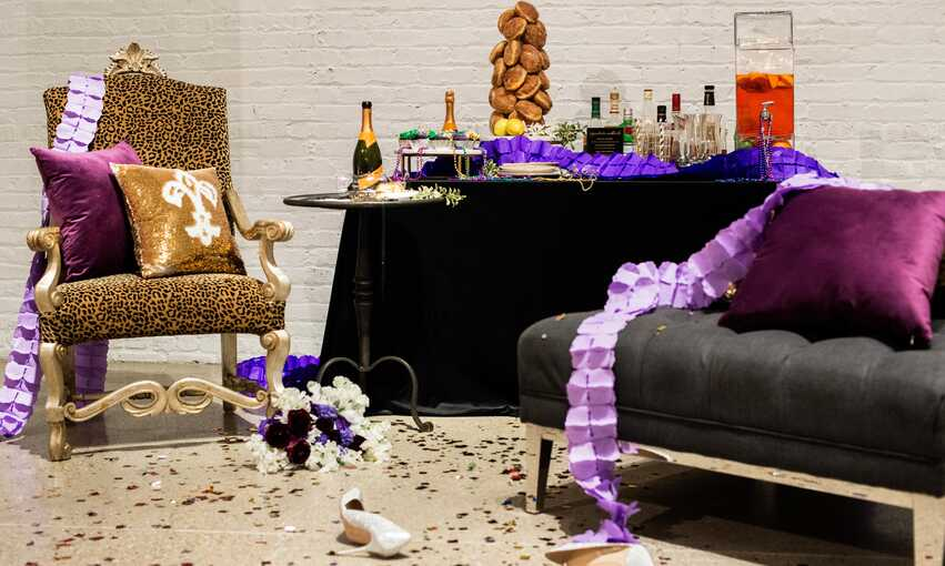 Mardi Gras party themed inspiration and ideas