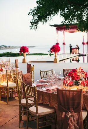 Waterfront Indian Reception With Gold Chiavari Chairs