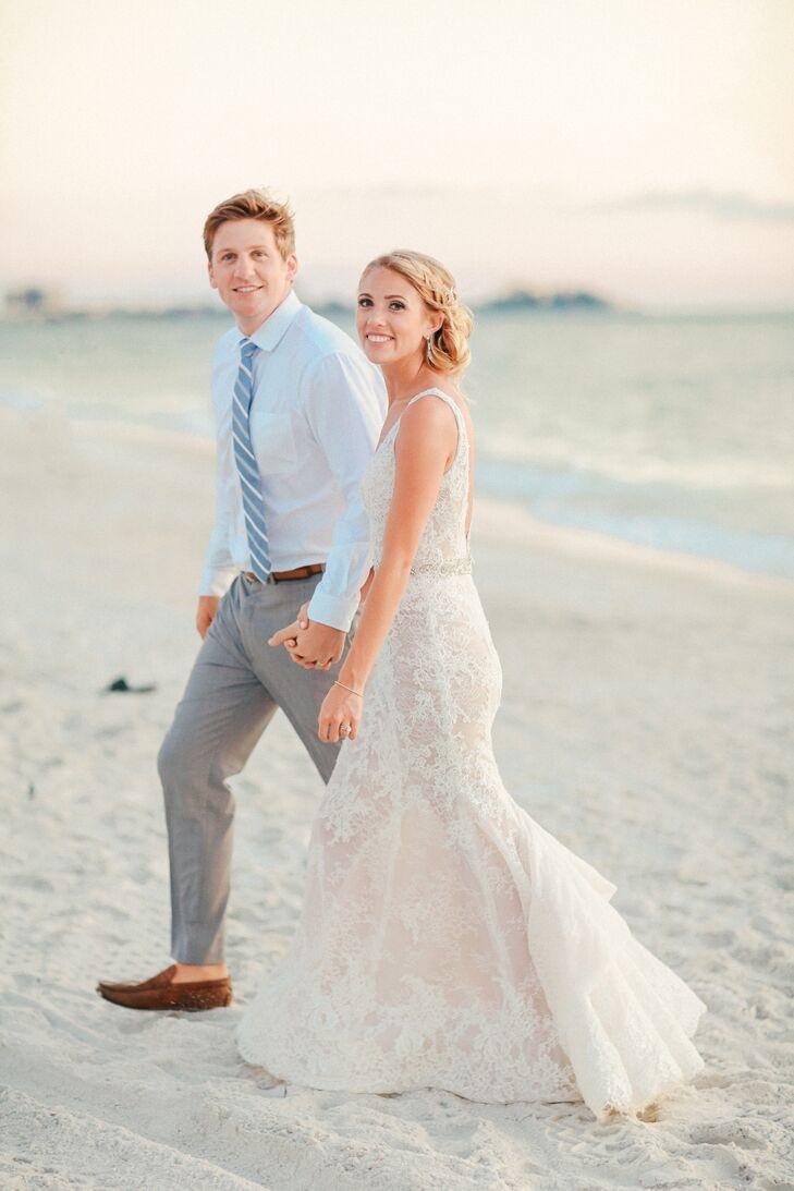 Couple on the Beach in Sarasota, Florida