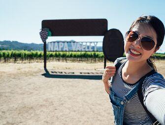 napa valley woman selfie
