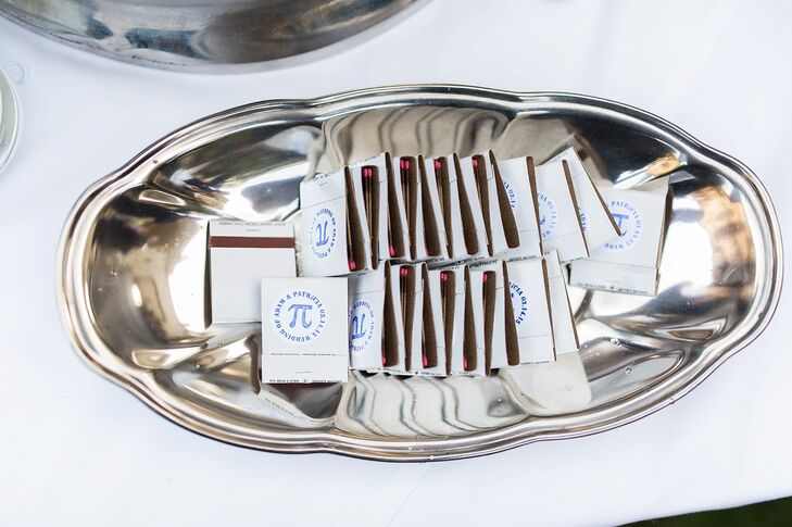 Pi Day-Inspired Matchbook Wedding Favors