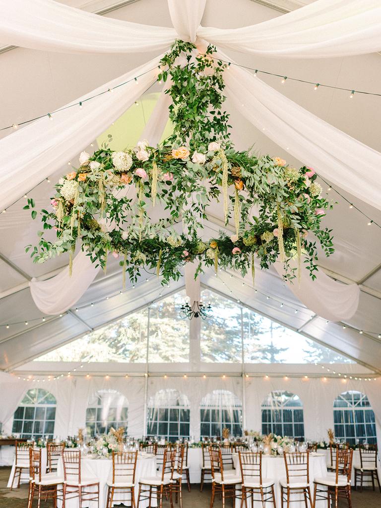 Pinterests 2018 trend report has amazing wedding inspo dcor trends wedding reception hanging flower decor junglespirit Images