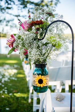 Baby's Breath and Lily Aisle Arrangements
