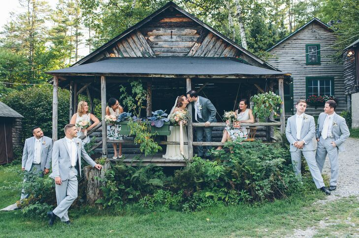 Rustic Wedding Party at Ogontz White Mountain Camp
