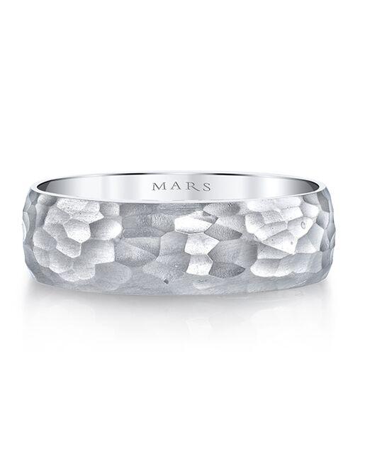 MARS Fine Jewelry MARS Jewelry G139 Men's Band White Gold Wedding Ring