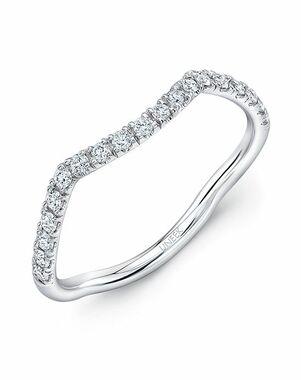 Uneek Fine Jewelry WB230W White Gold Wedding Ring