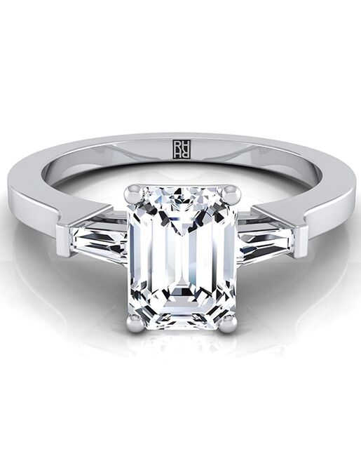 RockHer Vintage Emerald Cut Engagement Ring