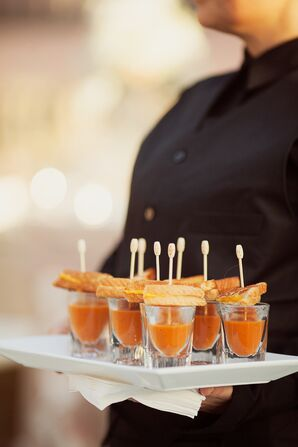 Grilled Cheese and Tomato Soup Hors D'oeuvres