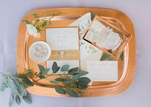 Invitation with Copper Details and Animal Illustration