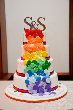 Four Tier Rainbow Cake