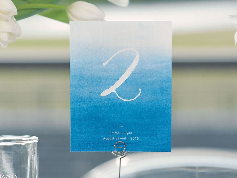 Inexpensive table number decor
