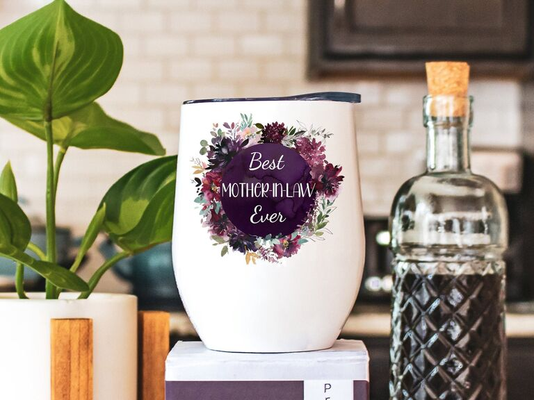 Mother-in-law hand-painted tumbler gift