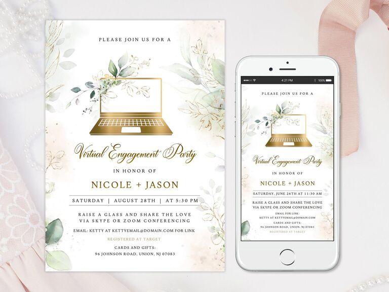 Virtual engagement party invitation