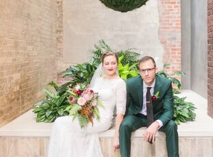 Lesli Eagles (27) and Greg Augsburger (31 and a geologist) reserved San Antonio's Hotel Emma, a former 19th-century brewhouse, for their fall wedding.