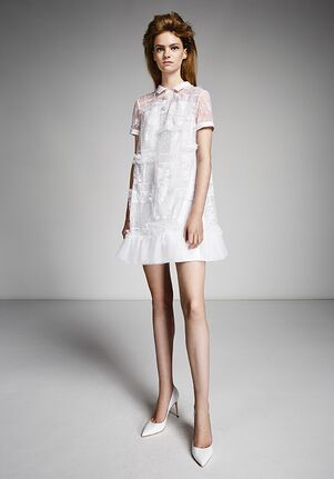 Viktor&Rolf Mariage LACE PATCHWORK POLO MINI Sheath Wedding Dress