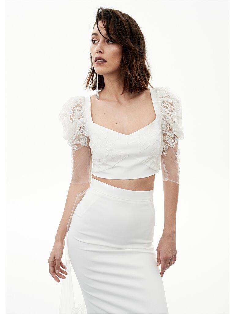 Rime Arodaky crop top and skirt