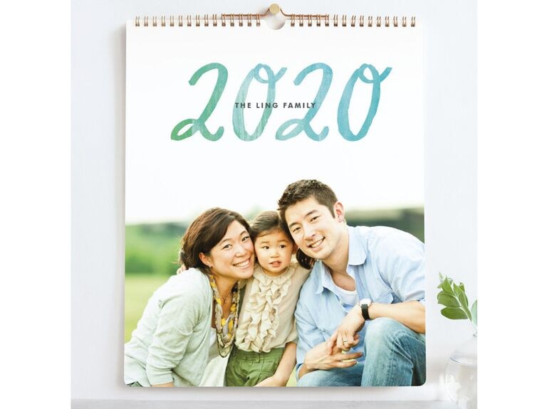 Personalized photo calendar gift
