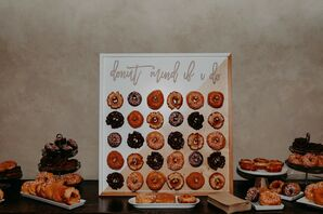 Doughnut Wall at Scottsdale, Arizona, Wedding