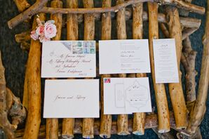 Elegant Vintage-Inspired Wedding Invitations