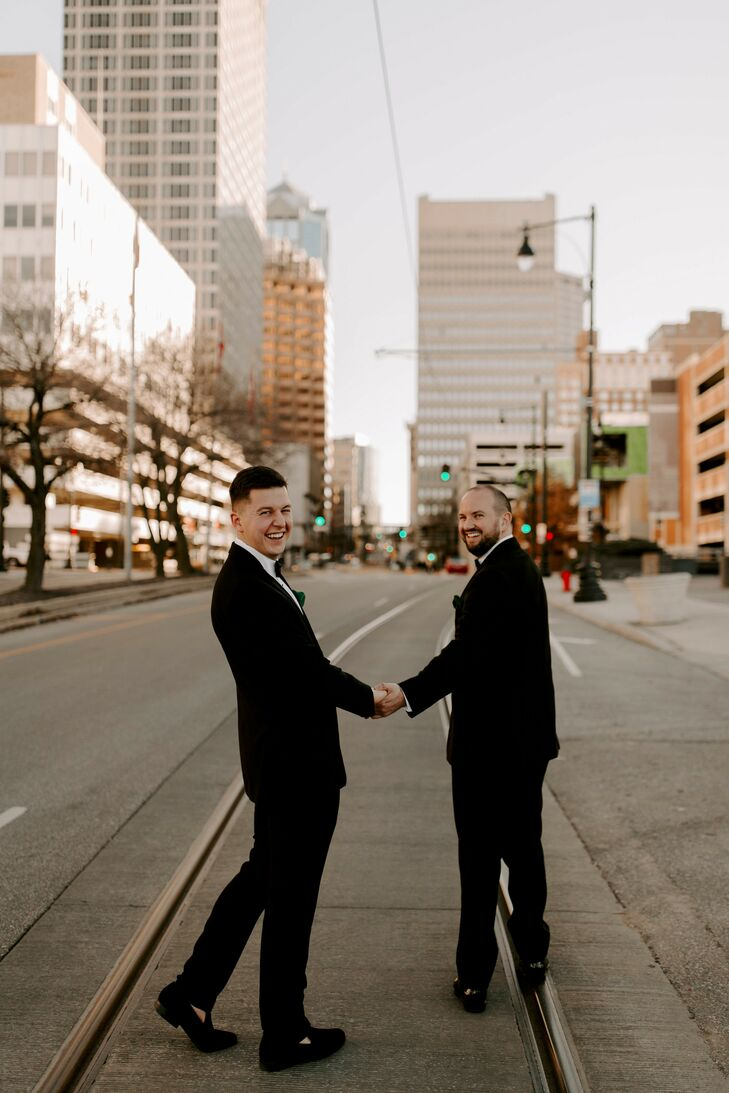 Hunter and Jonathan's black-tie wedding celebration at Magnolia Venue and Urban Garden was one for the books, but it was actually the couple's second
