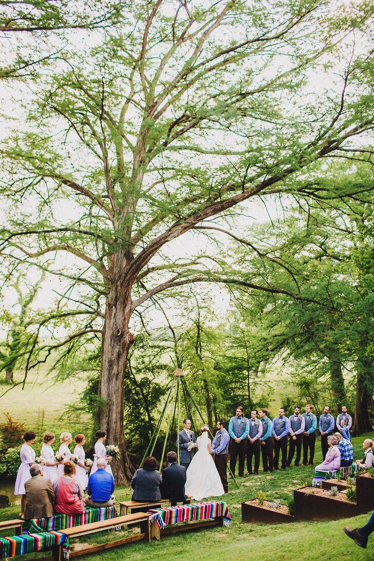 Whimsical Bamboo Teepee Wedding Arch