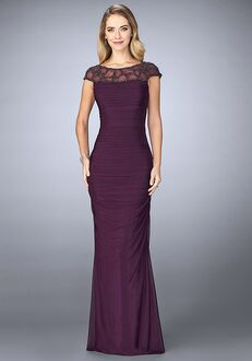La Femme Evening 23215 Purple Mother Of The Bride Dress