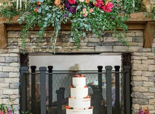 Hillary and Ben Kolber tied the knot in a rustic-chic affair with a palette of bright, cheerful colors in Ben's hometown of Birmingham, Alabama.<br><b