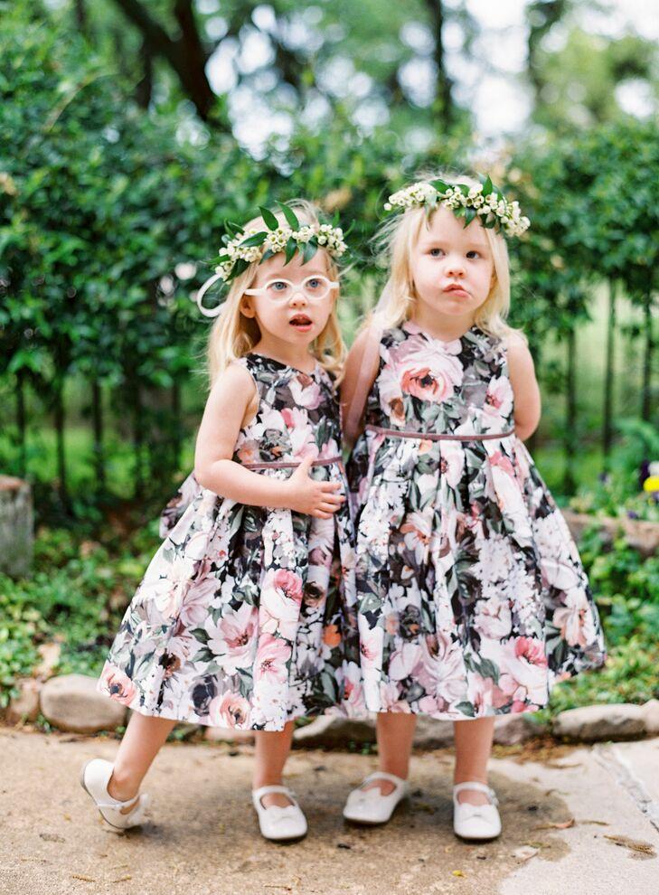 500334c41 Dark Floral Flower Girl Dresses