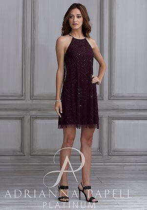 Adrianna Papell Platinum 40125 Halter Bridesmaid Dress