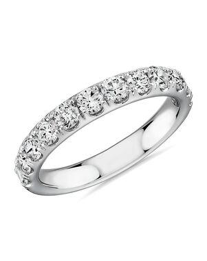 Blue Nile 74247 White Gold Wedding Ring