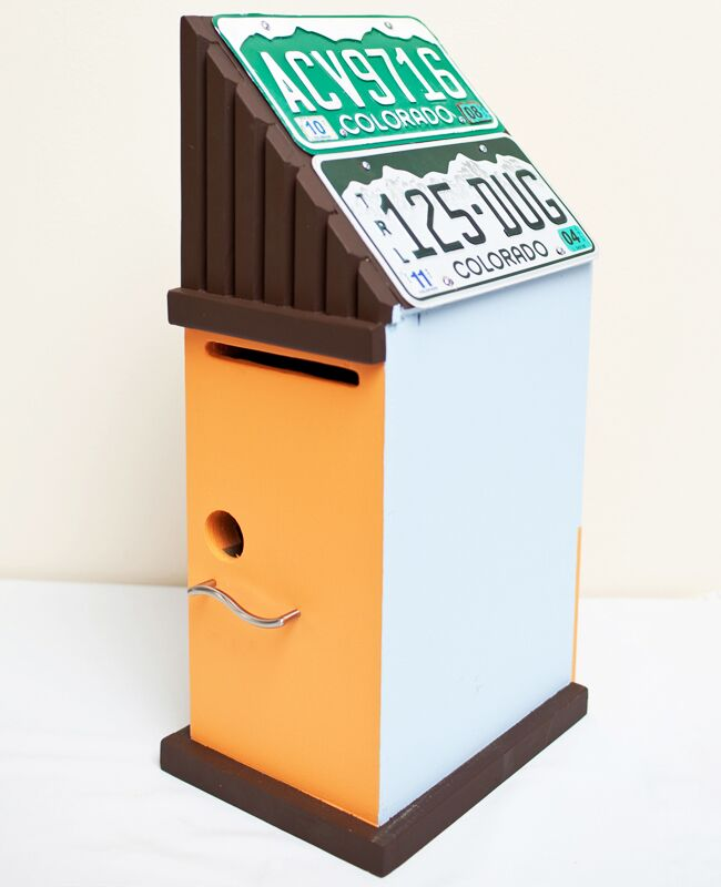 birdhouse wedding card holder