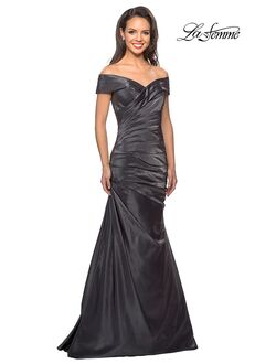 La Femme Evening 25656 Gray Mother Of The Bride Dress