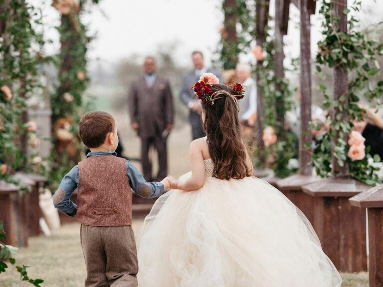 texas ranch wedding party