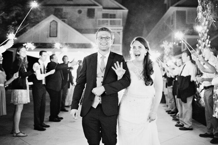 Beaded Illusion Neckline BHLDN Wedding Dress