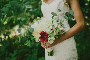 A Touch of Red Bridal Bouquet