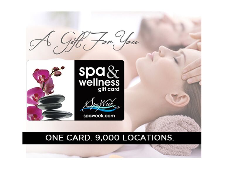 Spa gift card 16th anniversary gift