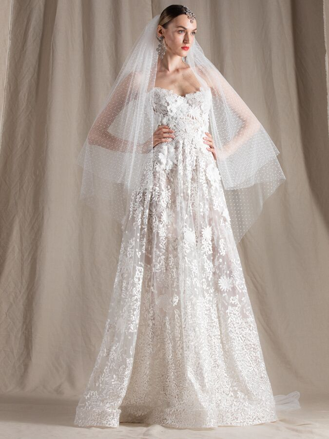 Naeem Khan lace A-line wedding dress