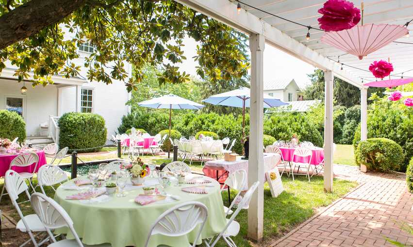 Garden party themed inspiration and ideas