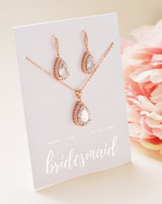 USABride Ellie CZ Bridesmaid Jewelry Set (JS-1682-BR) Wedding Necklace photo