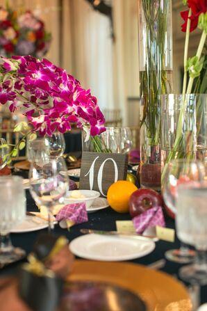 Elegant, Colorful Orchid Centerpieces