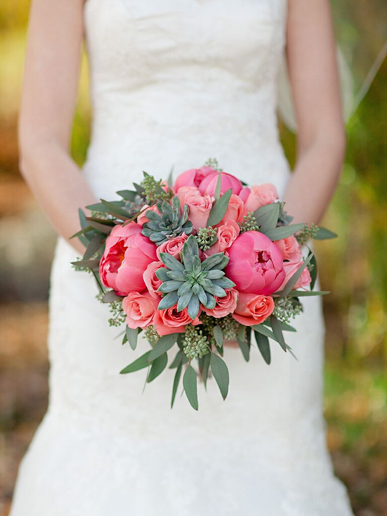 Natural Succulent Wedding Bouquets