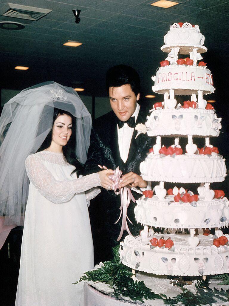 Priscilla Presley Wedding Dress