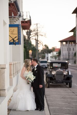 Couple Outside of The Treasury on the Plaza in St. Augustine, Florida