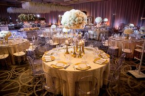 Glamorous Gold Reception at the Hyatt Regency on the Hudson in Jersey City, New Jersey