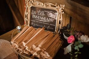 Vintage Chalkboard-Inspired Wedding Hashtag Sign