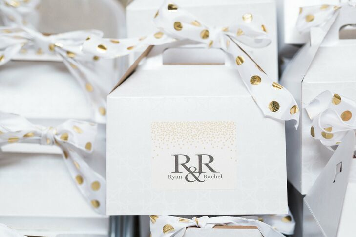 """""""We had a logo, 'R&R,' designed for us that we used on all our invitations, stationery, hotel gift bags and day-of details,"""" Rachel says."""