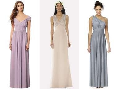 Dessy.com long bridesmaid dresses