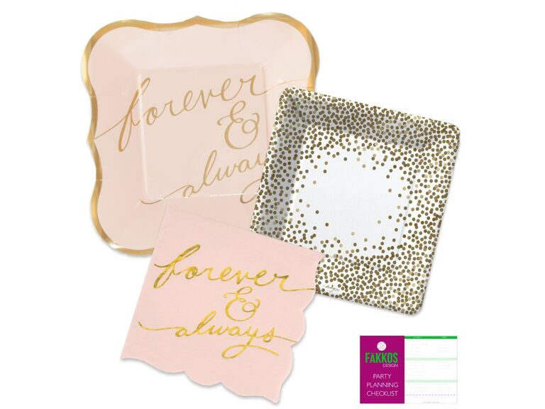 Forever and Always plates and napkins
