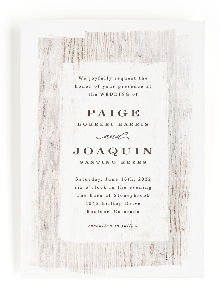 19 Rustic Wedding Invitations For A