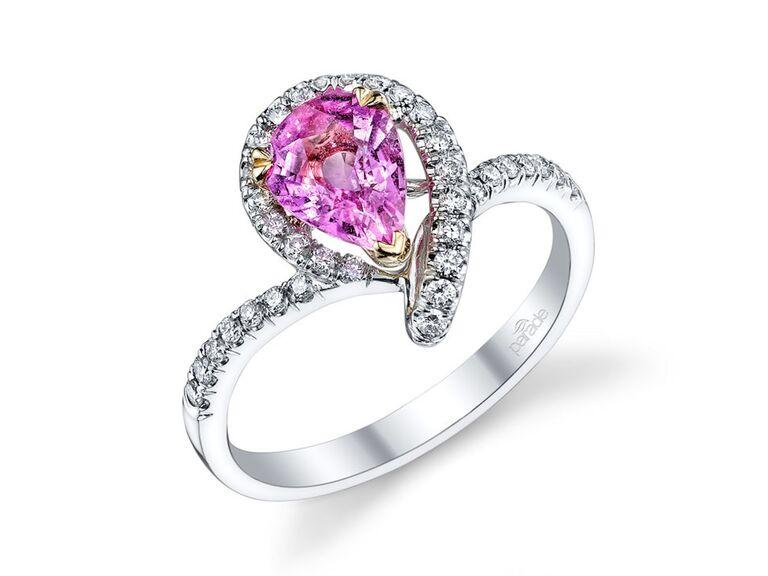 Parade Design pink sapphire engagement ring